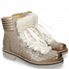 Enkellaarzen Bonnie 10 Crock Morning Grey Fur Off White