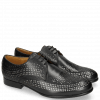 Derby schoenen Sally 82 Black Lasercut Feather