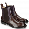 Enkellaarzen Sally 113 Mogano Light Purple Elastic Dark Brown