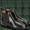 Enkellaarzen Susan 10 Black Elastic Black M&H Rubber Navy