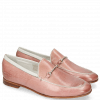 Loafers Scarlett 47 Pisa Rosa Nappa Binding Trim Gold