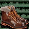 Enkellaarzen Trevor 19 Crock Wood Winter Orange Fur Taupe