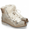 Enkellaarzen Bonnie 10 Crock Morning Grey Full Fur Beige Off White