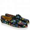 Loafers Ally 1 Navy Embrodery Flower