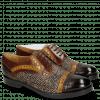 Derby schoenen Amelie 19 Mid Brown Yellow Hairon Halftone Mogano Insole Brown