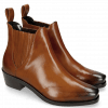 Enkellaarzen Kylie 1  Wood Elastic Dark Brown