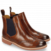 Enkellaarzen Selina 6 Wood Elastic Purple RS Brown
