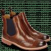 Enkellaarzen Selina 6 Wood Elastic Purple RS Brown