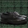 Derby schoenen Matthew 4 Big Croco Hair On Black Black Aspen EVA Black Rivets