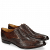 Oxford schoenen Keira 10 Lizzard Mid Brown Python Brown