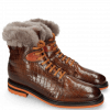 Enkellaarzen Trevor 19 Venice Crock Wood Winter Orange Fur Taupe