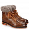 Enkellaarzen Trevor 19 Crock Wood Winter Orange Short Fur Taupe