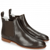 Enkellaarzen Susan 10 Salerno Perfo Dark Brown Elastic Brown