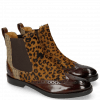 Enkellaarzen Amelie 5 Mid Brown Hairon Leo Cappu Textile English