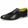 Oxford schoenen Sara 1 Black Big Net Fluo Yellow