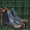 Enkellaarzen Amelie 5 Stone Sky Blue Ruby Turquoise Elastic Navy LS Black