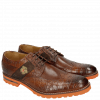 Derby schoenen Eddy 25R Big Croco Brown Embrodery