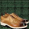 Derby schoenen Eddy 48 Mid Brown Tan Perfo Underlay Sand Howline Nude