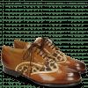 Derby schoenen Sally 15 Wood Nude Hairon Leo Tobacco Laces Tassel
