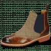 Enkellaarzen Selina 6 Wood Textile English Elastic Navy