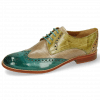 Derby schoenen Amelie 3 Onda Perfo Light Grey Mid Green Sol