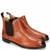 Enkellaarzen Susan 10 Venice Orange Elastic Dark Brown