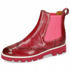 Enkellaarzen Selina 29 Bubblegum Elastic Ribbed Pink