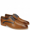 Derby schoenen Alex 10 Berlin Perfo Tan Berlin Navy