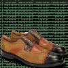 Derby schoenen Henry 7 Big Croco Mid Brown Winter Orange Lima Ocra Tan Python