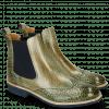 Enkellaarzen Amelie 5 Brazil Soft Harris Green Elastic Navy