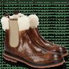 Enkellaarzen Amelie 63 Crock Wood Fur Lining Beige