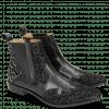 Enkellaarzen Marlin 25 Leo Glitter Black Salerno Black Gunmetal Elastic Black Lining