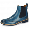 Enkellaarzen Amelie 5 Mid Blue Elastic Navy