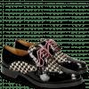 Derby schoenen Betty 3  Patent Black Hairon Tweed Black White