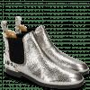 Enkellaarzen Susan 37 Cromia Gunmetal Hairon Jersey Metallic Black White