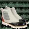 Enkellaarzen Selina 29 Black Fiesta Nappa Perfo White Elastic Oxford