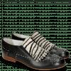 Loafers Sally 95 Glove Nappa Black Hairon Young Zebra