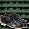 Derby schoenen Henry 7 Navy Wind Sky Blue Woven