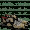 Derby schoenen Toni 1 Suede Black Embrodery Metalic