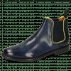 Enkellaarzen Selina 48 Pavia Navy Binding Fluo Yellow