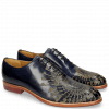Oxford schoenen Kane 21 Navy Embrodery Gold