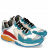 Sneakers Flo 1 Suede Pattini Aqua Milled Perfo White Light Grey Suede Pompe