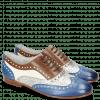 Oxford schoenen Sonia 1 Vegas Neptune Blue Talca Perfo Silver Mink White