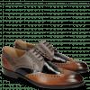 Derby schoenen Kane 5 Tan Grigio Soft Patent Oriental