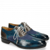 Oxford schoenen Jeff 28 Suede Pattini Mid Blue Grigio