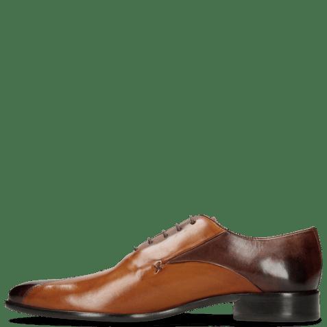 Oxford schoenen Toni 31 Mogano Tan LS Red