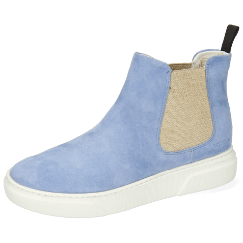 Enkellaarzen Hailey 2 Parma Suede Greek Blue Elastic Lino