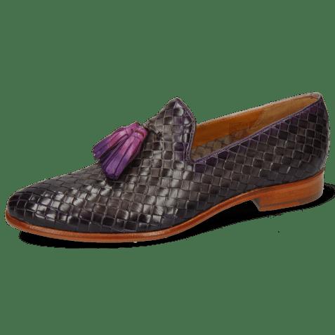 Loafers Brad 10 Woven Grigio Shade Purple Flame