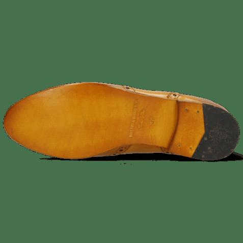 Enkellaarzen Selina 6 Yellow Elastic Navy Lining