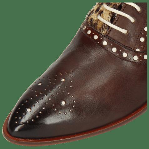 Oxford schoenen Jessy 61 Imola Mogano Hairon Leo Beige Underlay